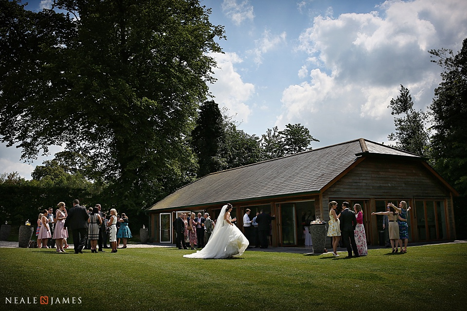 Colour picture of the afternoon reception at Wasing Park in Berkshire