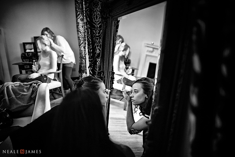 Bridal preparations photo at Botleys Mansion in Surrey