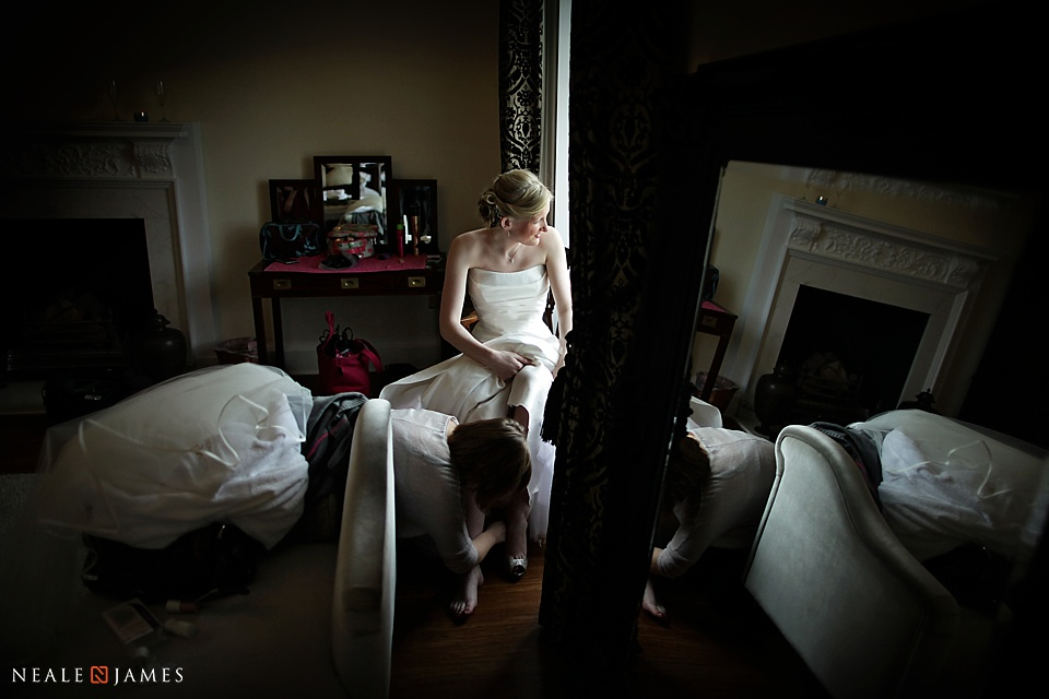 Photograph taken in the bridal suite at Botleys Mansion