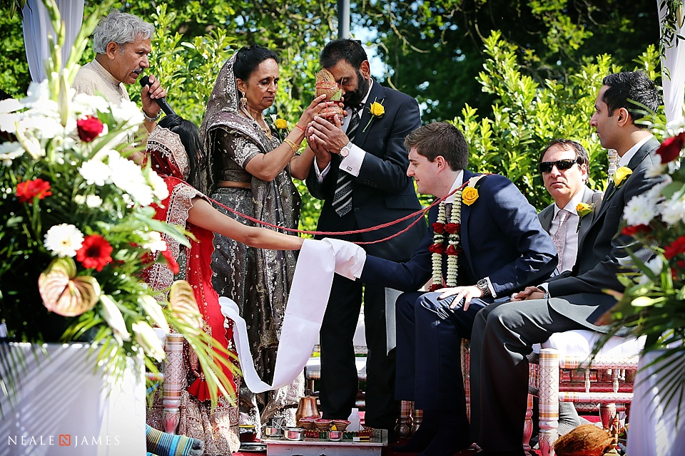 Indian wedding ceremony picture from Botleys Mansion