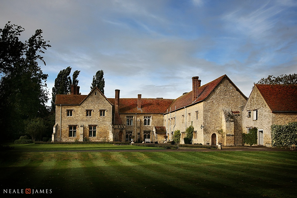 Colour photograph of Notley Abbey near Thame in Buckinghamshire