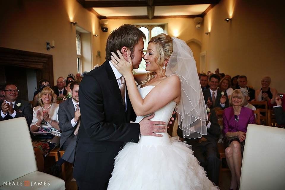 Colour photo of civil ceremony at Notley Abbey