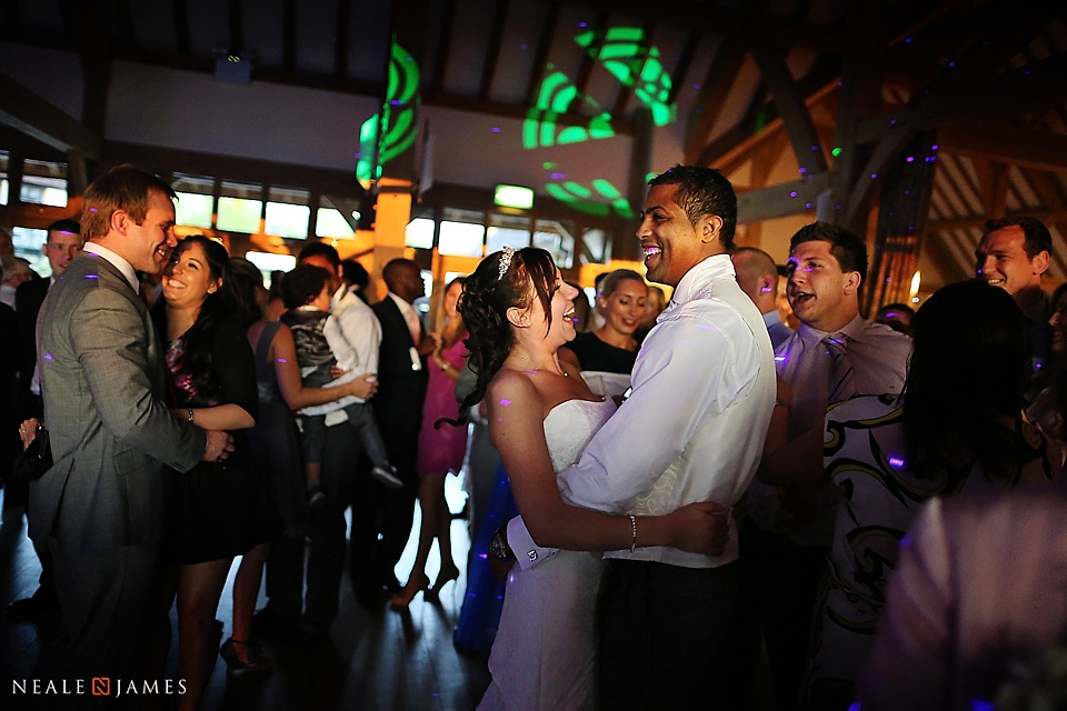 A picture of a first dance at a wedding