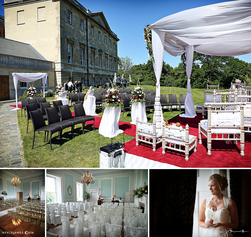 Outdoor ceremony at Botleys Mansion