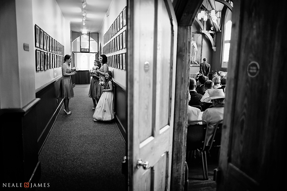 A wedding day picture at Wokingham Town Hall