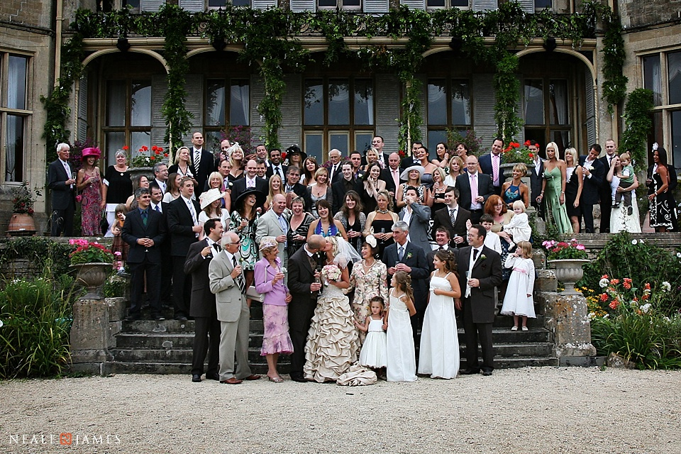 Colour Photograph Of All The Wedding Guests