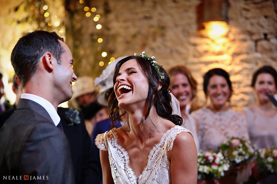Wedding picture from Cripps Barn during ceremony