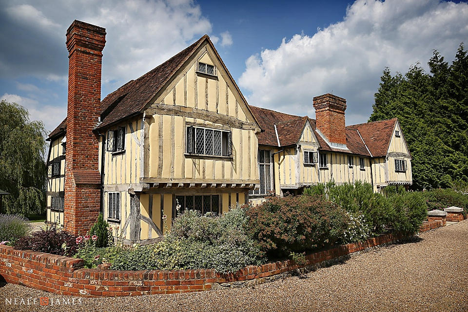Colour photograph of Cain Manor wedding venue