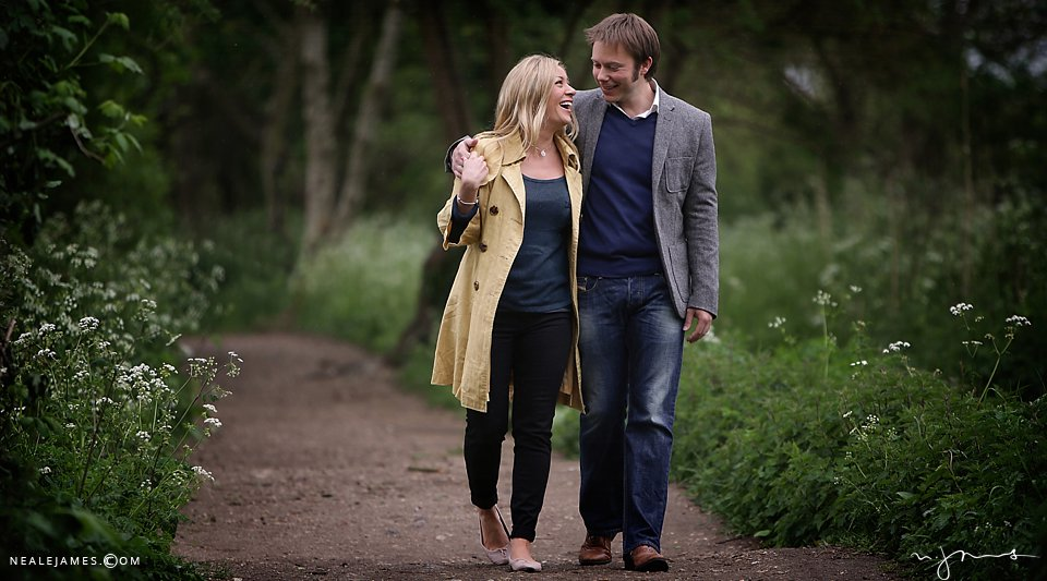 A pre-wedding photoshoot for a couple to wed at Notley Abbey