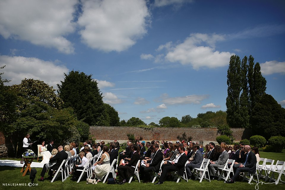 Outdoor ceremony Notley Abbey