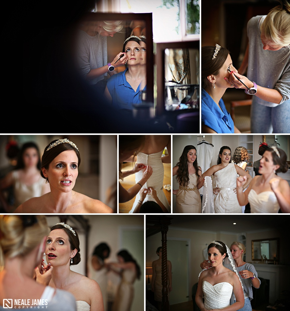 Bridal preparations at Silchester House