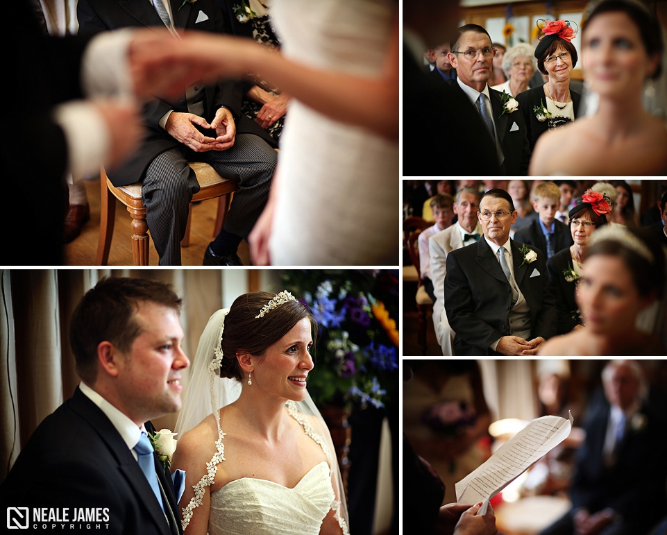 Images from a civil ceremony taking place at Silchester House