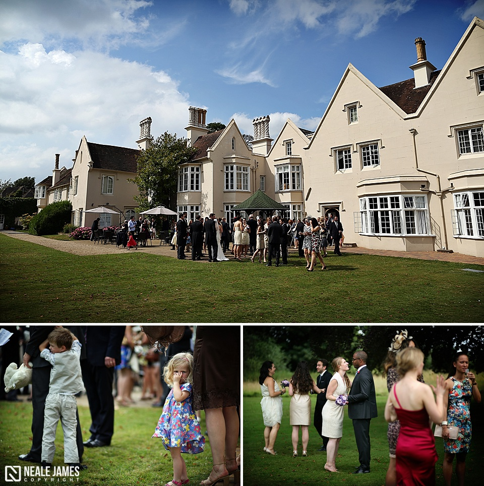 Guests Enjoy A Wedding Reception At Silchester House