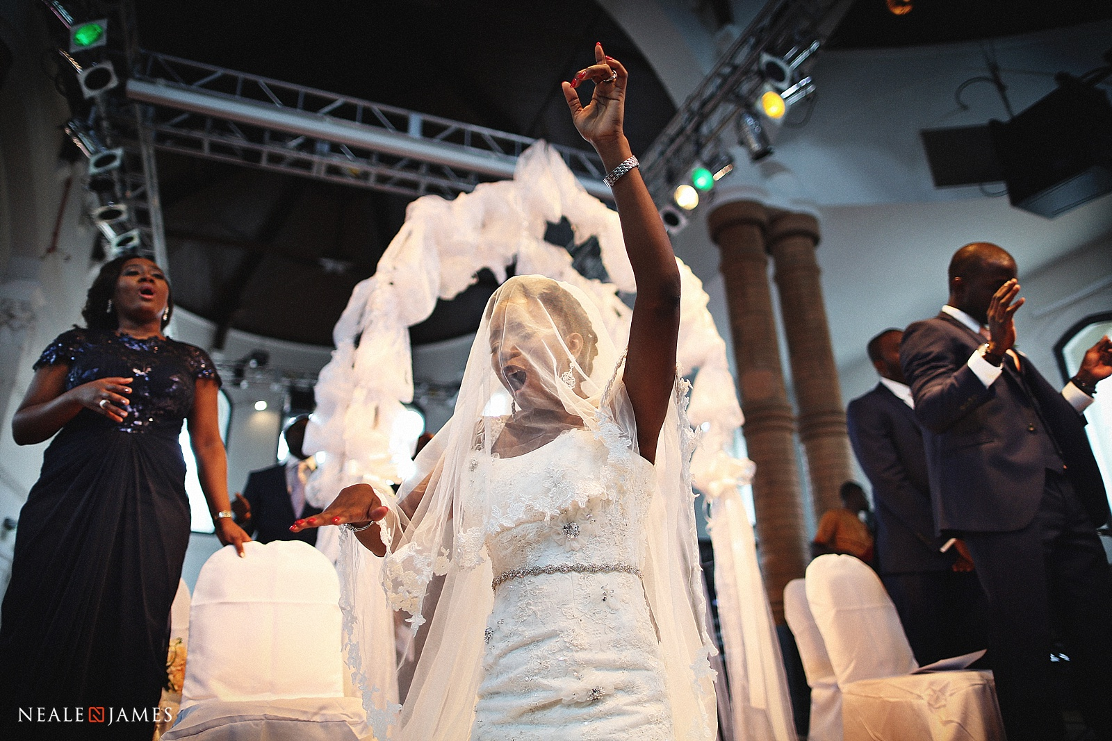 Picture of a Nigerian Church wedding ceremony