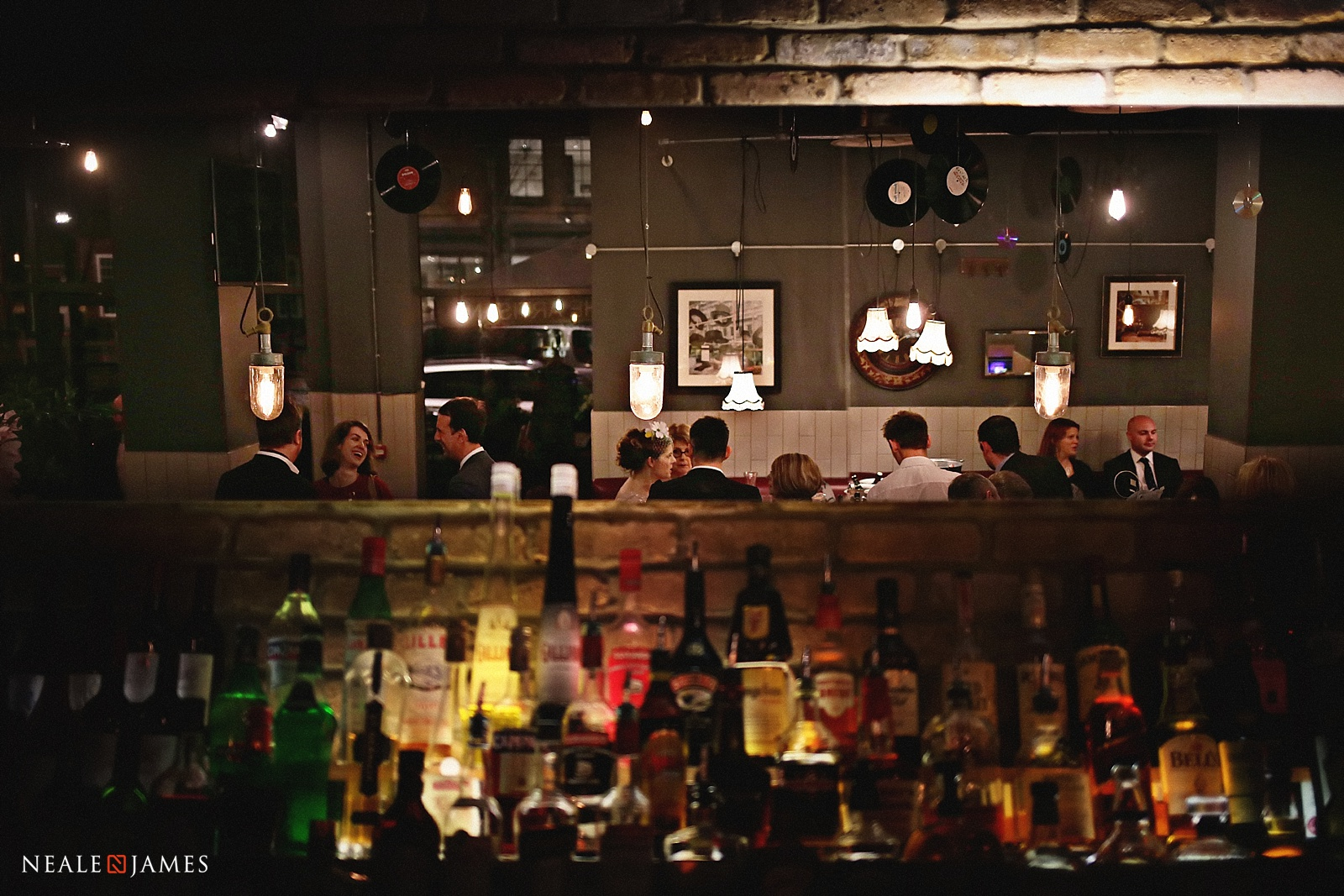 Colour picture of guests in a bar