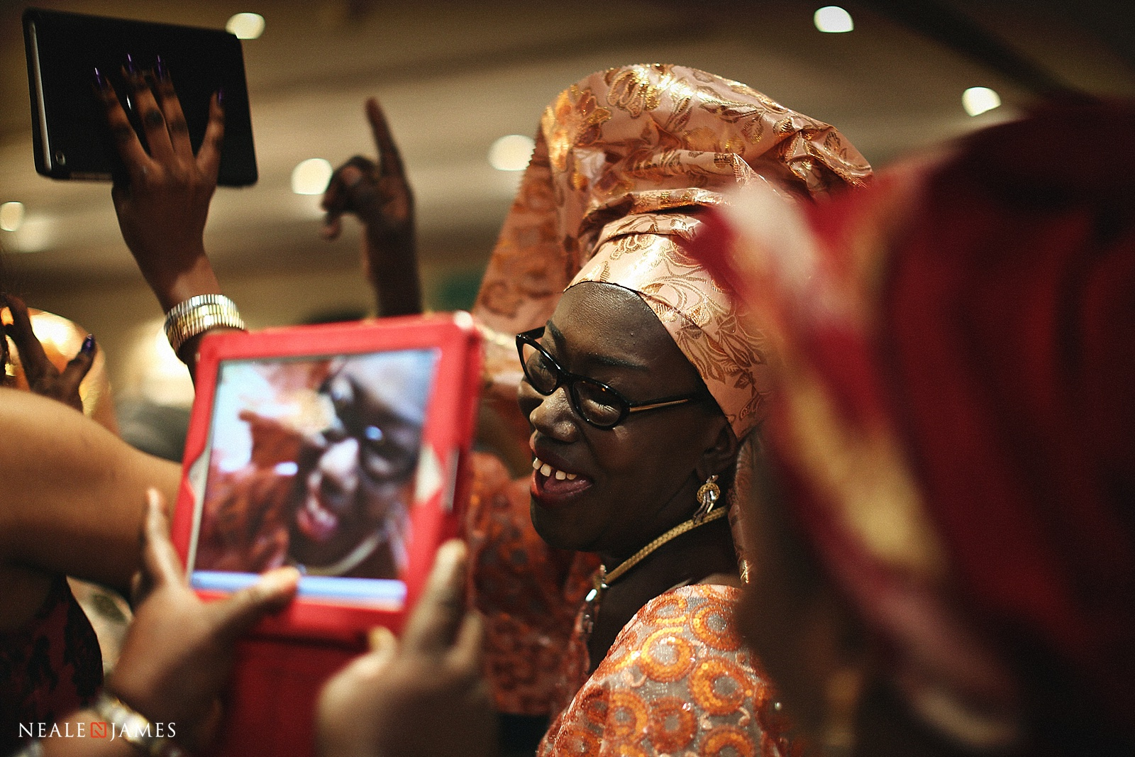 Colour picture of a Nigerian wedding in London