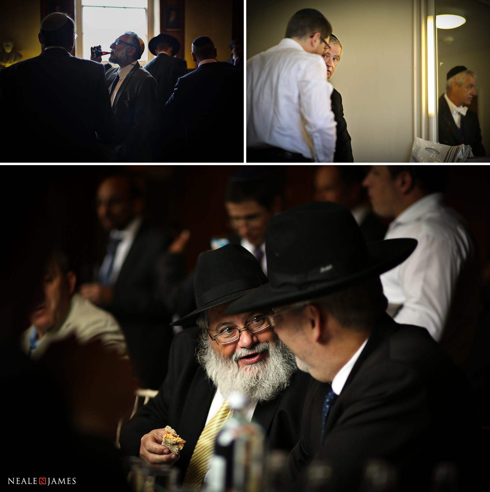 Preparations for Jewish wedding in this colour picture