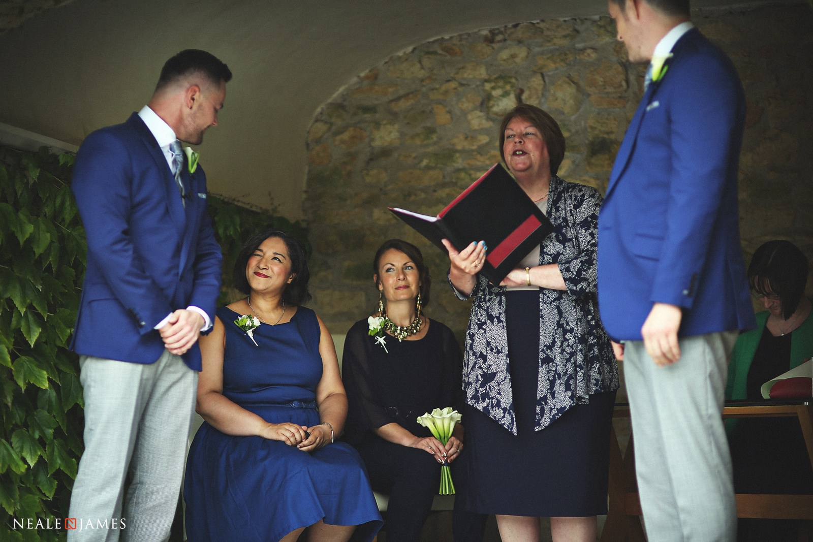 Outdoor ceremony taking place at Notley Abbey in Thame