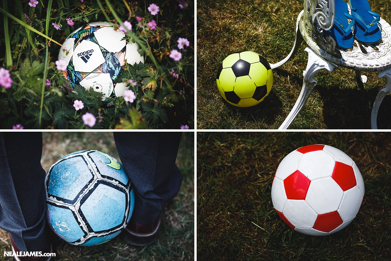 Colour photo of footballs