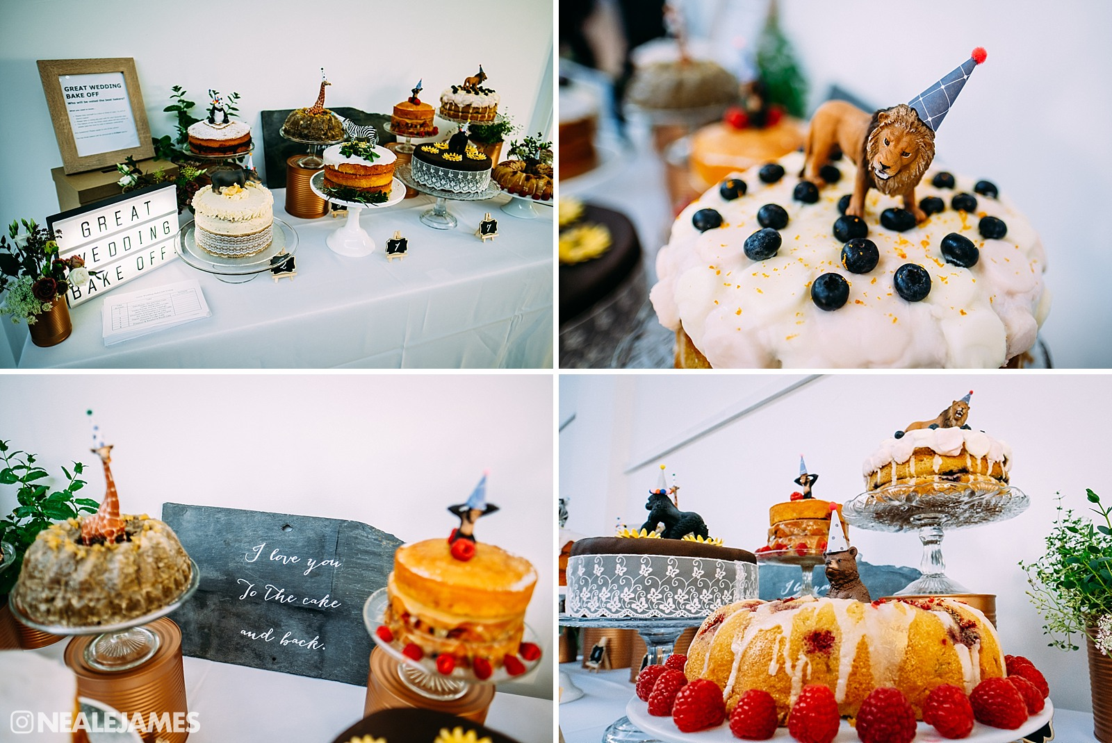 A bake off wedding cake competition photograph