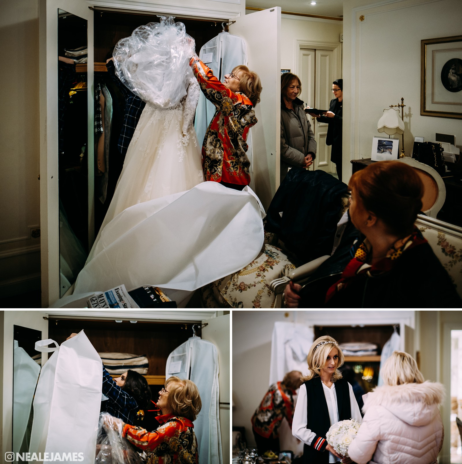A picture of preparations as a bride gets ready for her wedding at The Ritz London