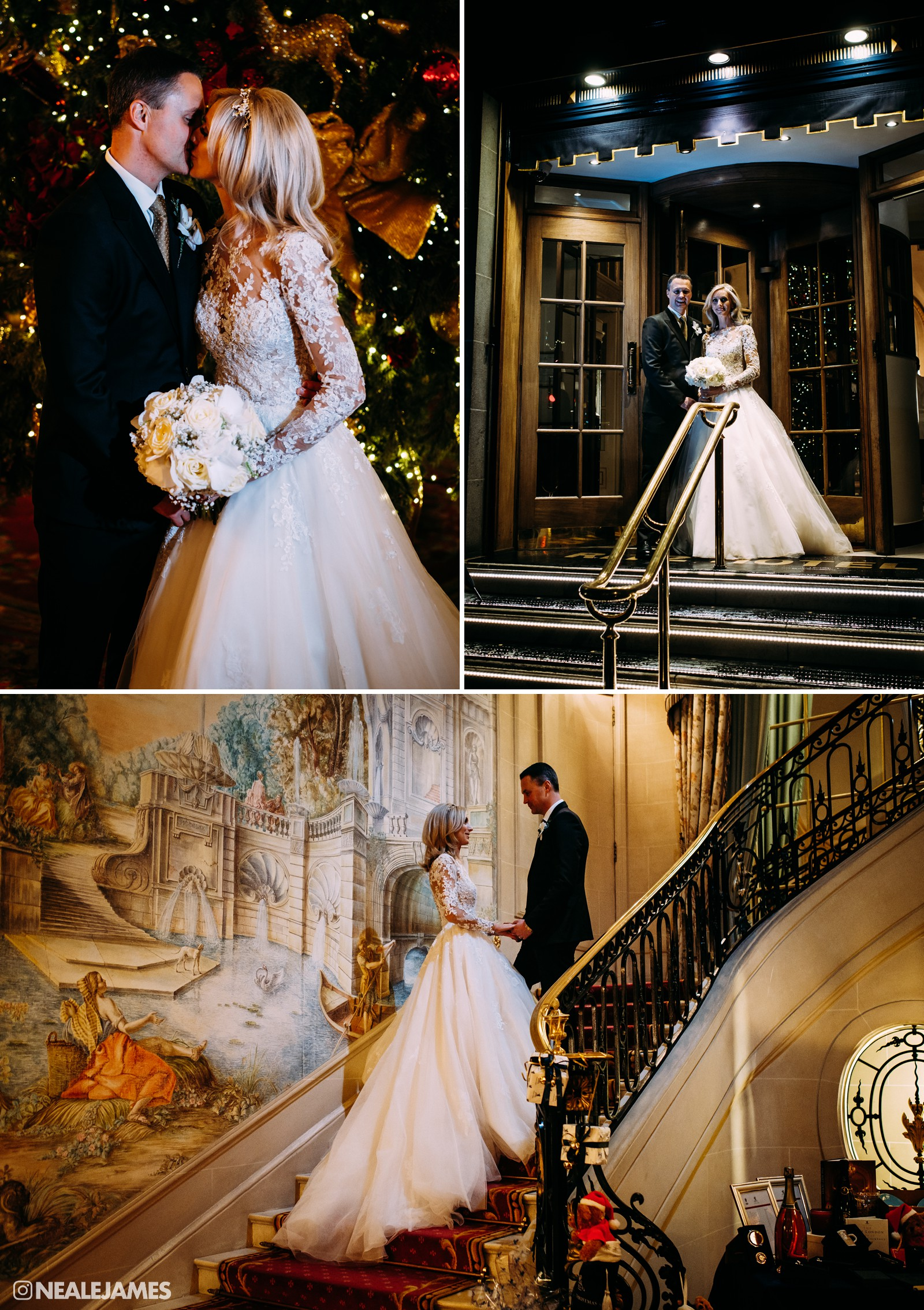 A colour portrait set made at The Ritz wedding venue in London featuring Ricki Hill and Charlotte