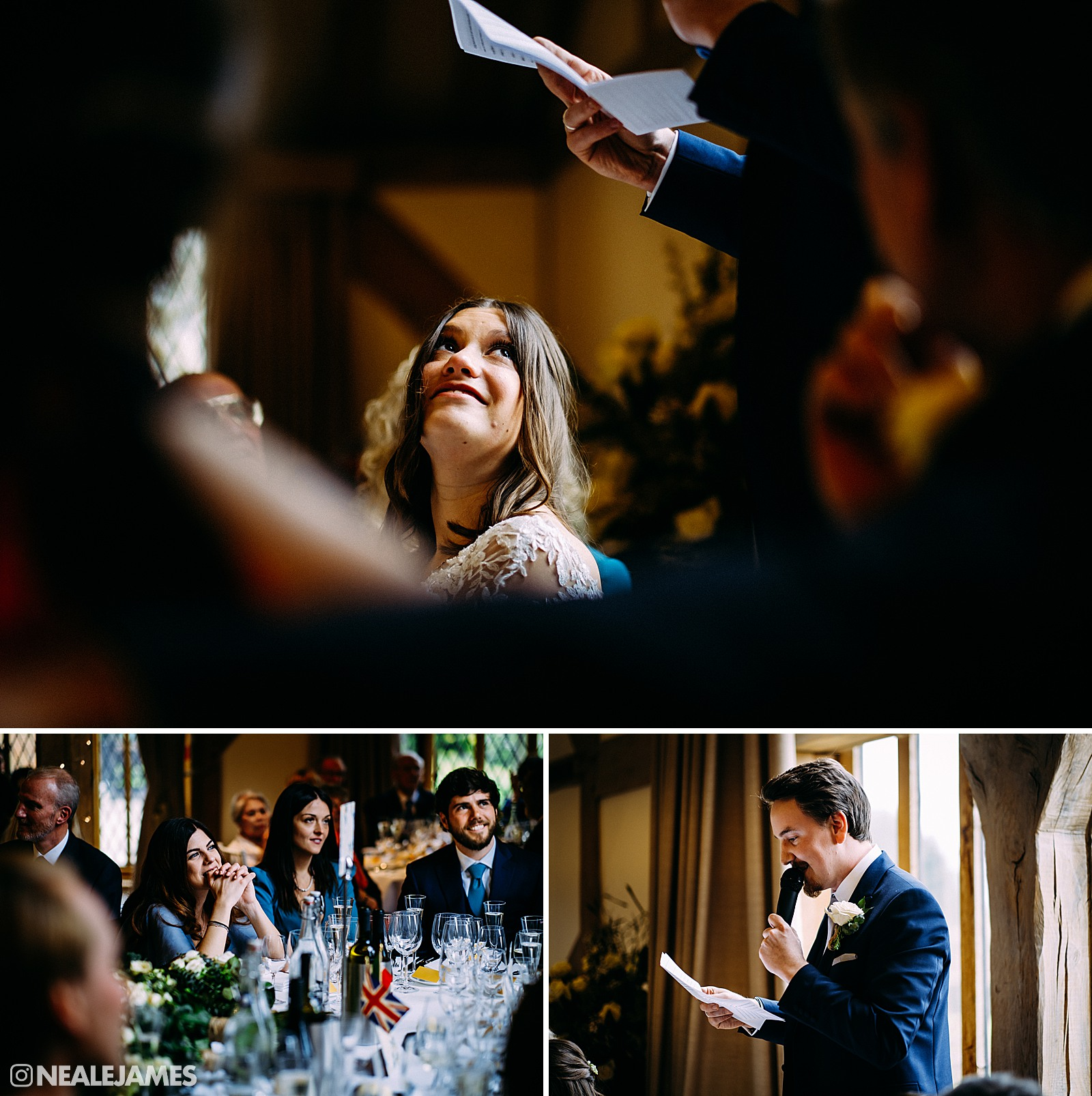 A groom makes his speech at Cain Manor in Surrey