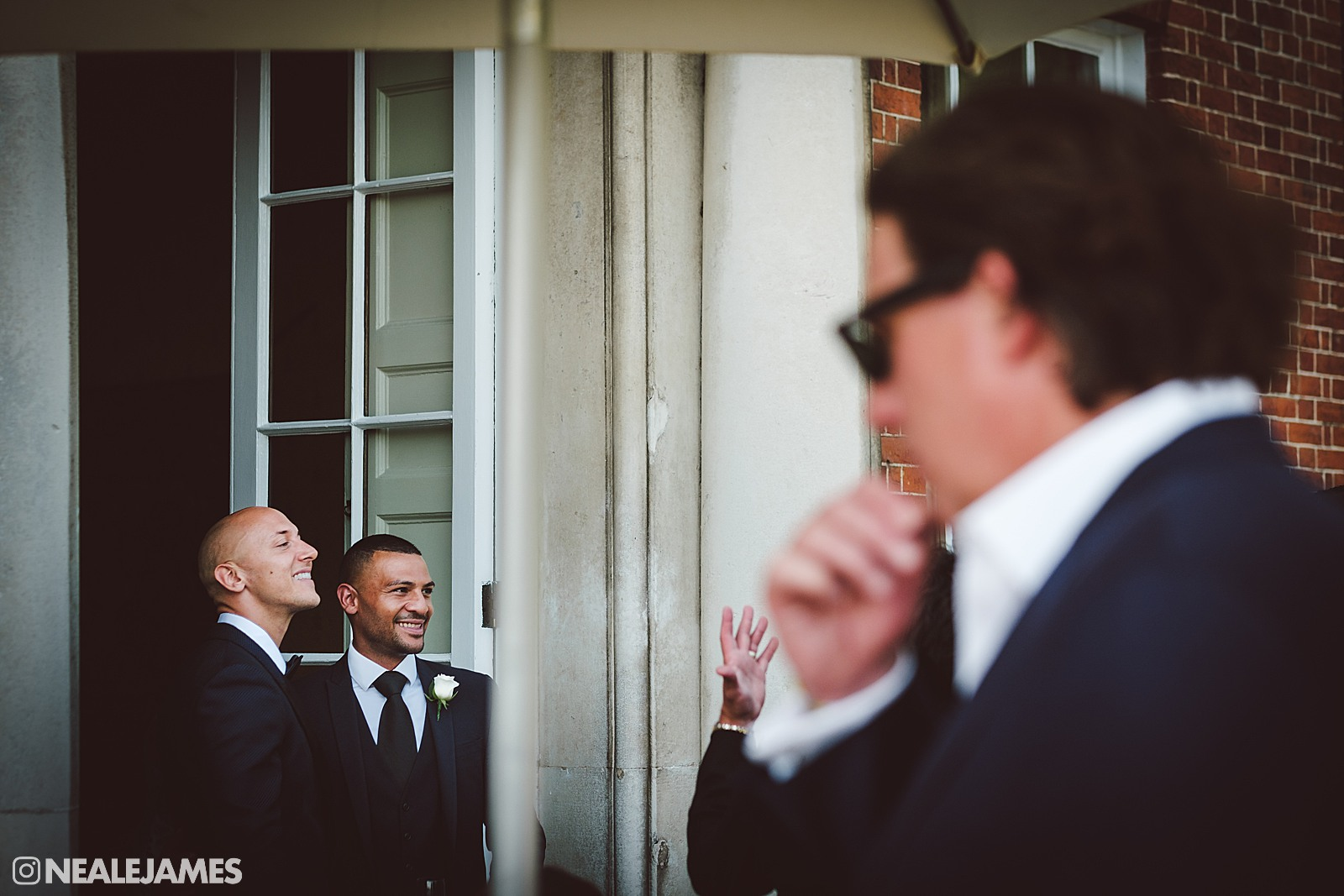 Colour photo from wedding at Brocket Hall